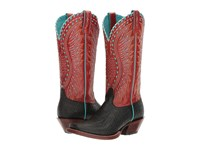 Ariat Derby Black Elephant Print Scarlet Cowboy Boots Brown