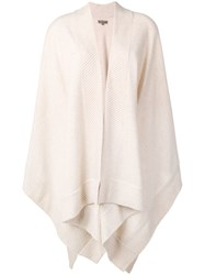 N.Peal Knitted Cashmere Cape Neutrals