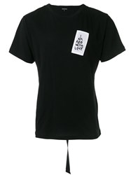 Ann Demeulemeester Embroidered Patch T Shirt Black