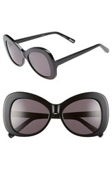 Elizabeth And James Palmer 54Mm Butterfly Sunglasses Black Smoke Black Smoke