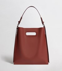 Allsaints Voltaire Flat Leather Hobo Bag Beed Red Pt Bungdy