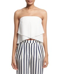 Nicholas Strapless Layered Bustier Top Ivory