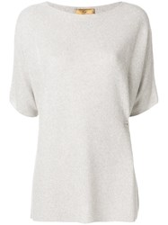 Fay Hook Fastened Knitted Top Nude And Neutrals