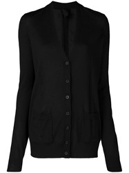 Vera Wang Fine Knit Cardigan Black