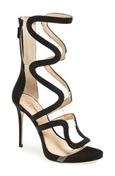 Imagine By Vince Camuto Women's 'Dash' Cage Sandal Black Satin