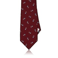 Fairfax Men's Dot Pattern Silk Satin Necktie Red
