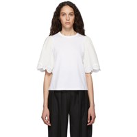 See By Chloe White Embellished T Shirt
