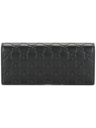 Gucci Signature Leather Wallet Men Leather One Size Black