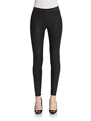 David Lerner Coated Python Leggings Black
