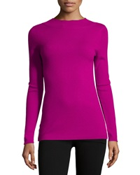 Todd And Duncan Cashmere Long Sleeve Mock Turtleneck Elsa