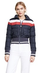 Mother The Big Rib Puffer Jacket Navy