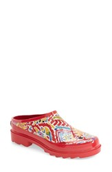 Sakroots Women's Print Rain Clog Sweet Red Brave Beauty