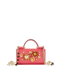 Dolce And Gabbana Embellished Iguana Purse Female Coral