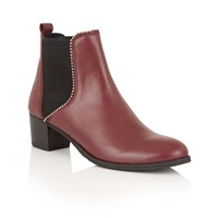 Ravel Henderson Ankle Boots Cherry
