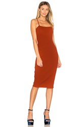 By The Way. Roma Midi Dress Rust