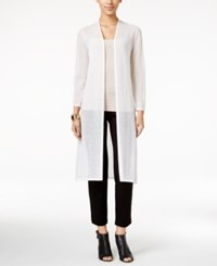 Alfani Lightweight Open Front Duster Cardigan Only At Macy's Bright White