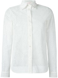 See By Chloe Leopard Effect Sheer Shirt White