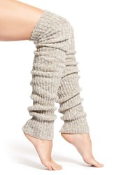 Women's Lemon 'Flurry' Rib Knit Leg Warmers Ivory Powder