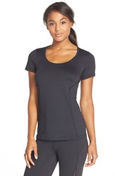 Lole Scoop Neck Tee Black