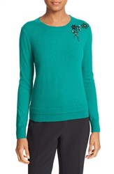 Kate Spade Women's New York Embellished Sweater Emerald Ring