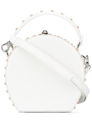 Bertoni 1949 Round Crossbody Bag White