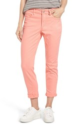 Nydj Petite Women's Alina Convertible Ankle Jeans Pale Guava