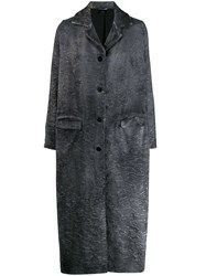 Avant Toi Distressed Effect Coat Black