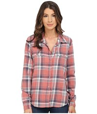 Paige Trudy Shirt Canyon Rose Greystone Women's Long Sleeve Button Up Pink