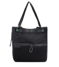 J.W.Anderson Leather Trimmed Nylon Tote Black