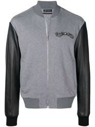 Versace Two Tone Bomber Jacket Grey