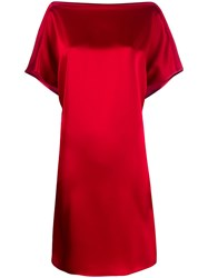 Gianluca Capannolo Short Sleeve Shift Dress Red