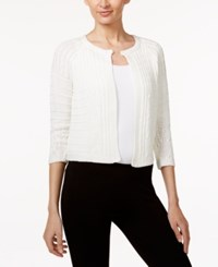 Calvin Klein Cable Knit Shrug Cardigan Soft White