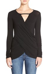Women's Velvet By Graham And Spencer Wrap Front Knit Top