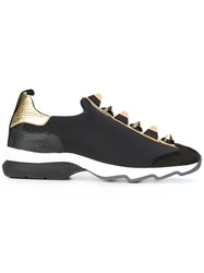 Fendi Studded Sneakers Black