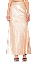 Lucy Paris Sequin Mermaid Maxi Skirt Blush
