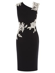 Karen Millen Embroidered Pencil Dress Black And White