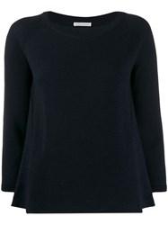 Stefano Mortari Ribbed Knit Sweater Blue