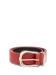 Isabel Marant Kidatt Snake Effect Leather Belt Red