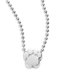 Alex Woo Sterling Silver Paw Icon Necklace