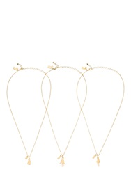 Kate Spade Like A Charm Rock Paper Scissors Necklaces Set Of Three