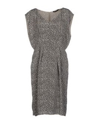 Ajay Knee Length Dresses Light Grey