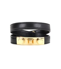 Saint Laurent Studded Leather Bracelet Black