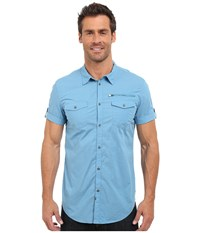 Calvin Klein Jeans Mini Check Shirt Ink Blue Men's Short Sleeve Button Up