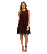 Nanette Lepore Majestic Lace Dress Scarlet Black Women's Dress
