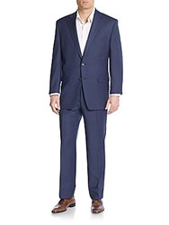 Lauren Ralph Lauren Regular Fit Solid Wool Suit Blue