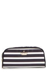 Kate Spade New York 'Classic Berrie' Floral Cosmetics Case Black Clotted Cream