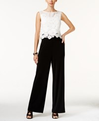 Thalia Sodi Lace Overlay Jumpsuit Only At Macy's Washed White