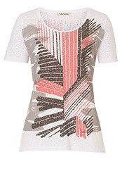 Betty Barclay Graphic Print Top Red