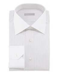 Stefano Ricci Striped Dress Shirt Orange