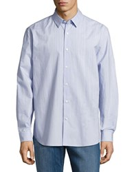 Elie Tahari Zac Striped Cotton Shirt Allium